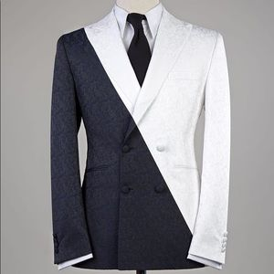 Other - Men's Black White 2 Piece Suit